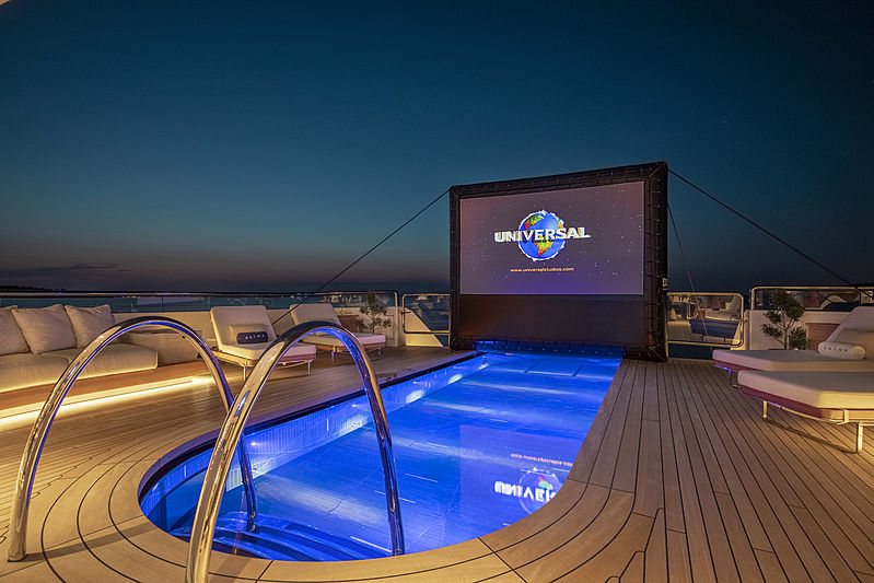 Hasna yacht pool at night