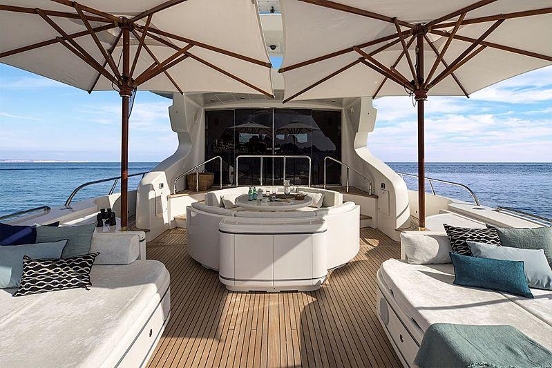 Hells Bells yacht aft deck