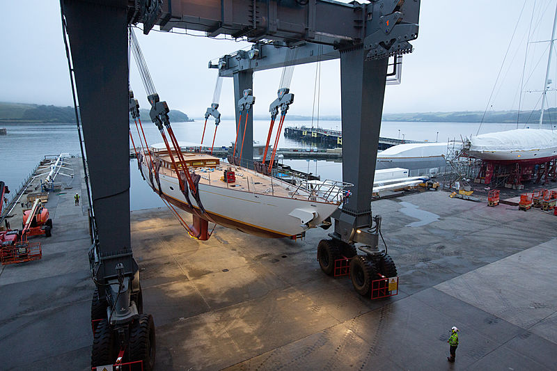 Halekai yacht launch at Pendennis