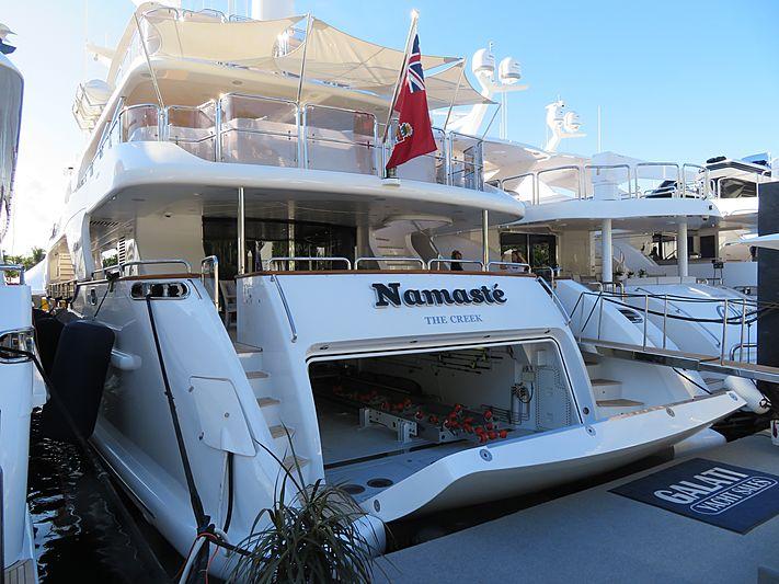 Namaste yacht at Fort Lauderdale International Boat Show 2019