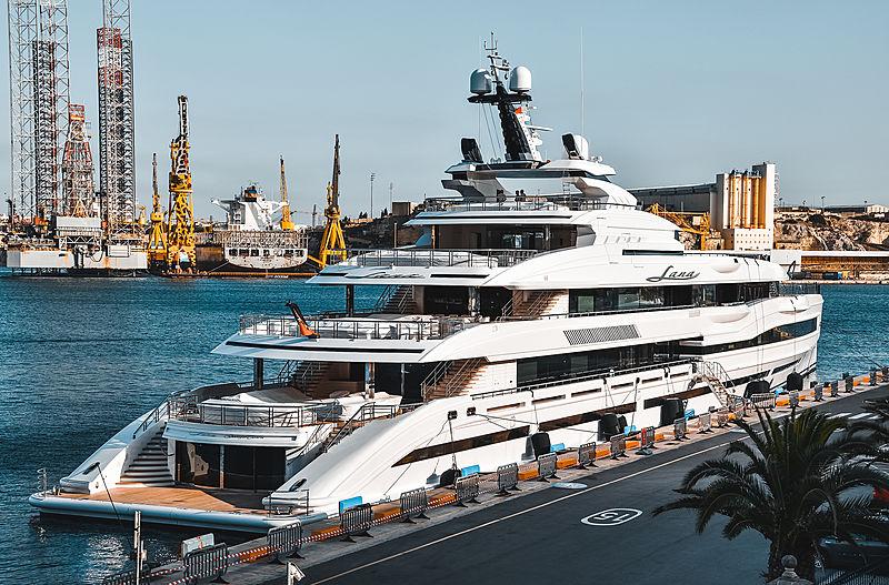 Lana yacht by Benetti in Malta