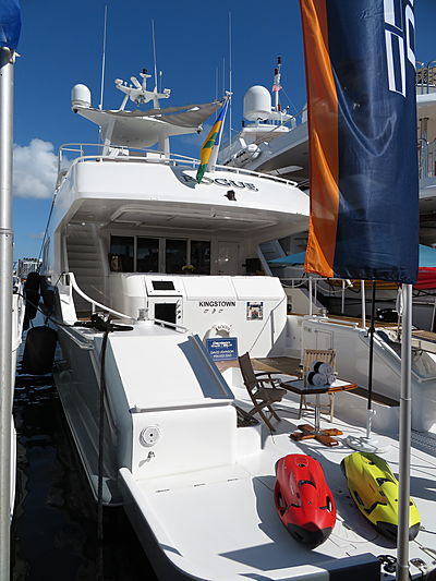 Rogue yacht at Fort Lauderdale International Boat Show 2019