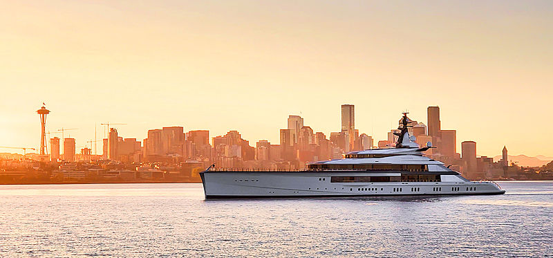 Bravo Eugenia yacht by Oceanco in Seattle