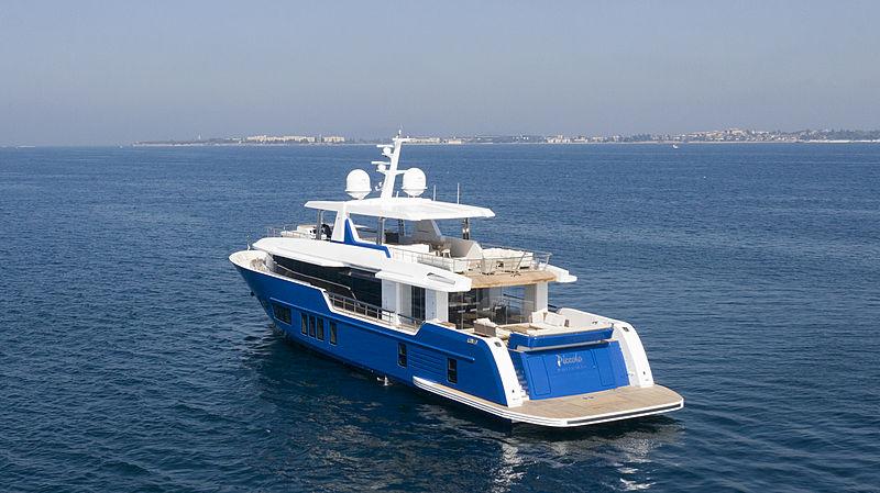 Piccolo yacht  anchored