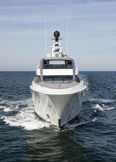 Halo by Feadship under sea trials on the North Sea