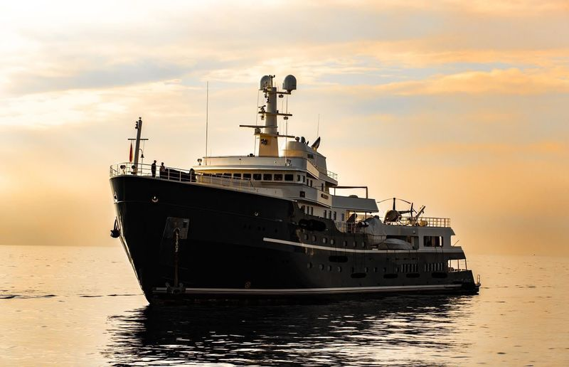 The converted adventure superyacht Legend