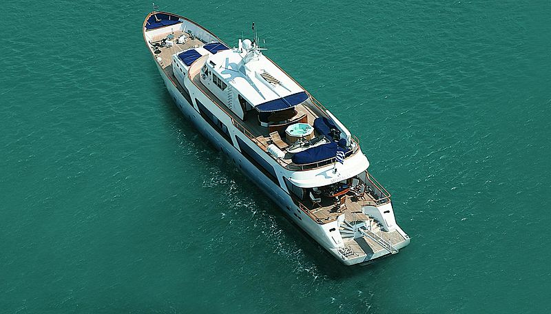 Monaco yacht aerial
