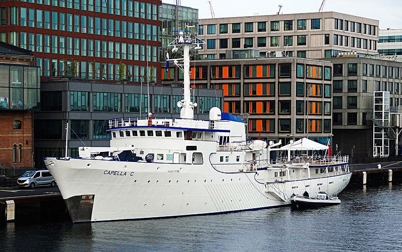 Capella C yacht in Amsterdam
