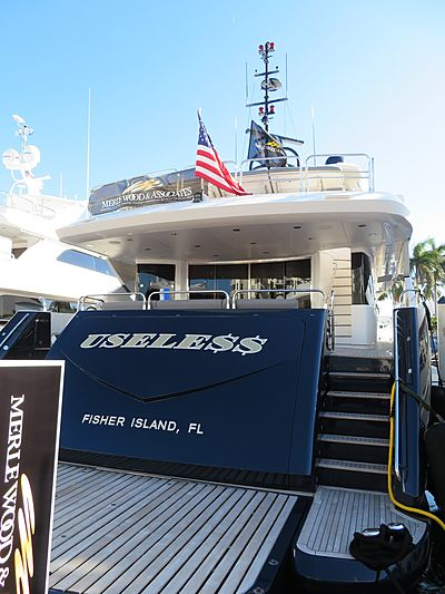 Usele$$ yacht at Fort Lauderdale International Boat Show 2019