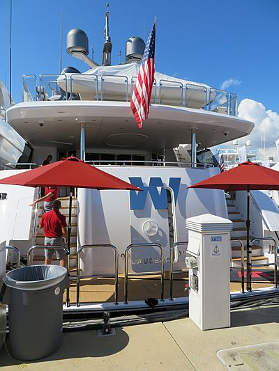 W yacht at Fort Lauderdale International Boat Show 2019