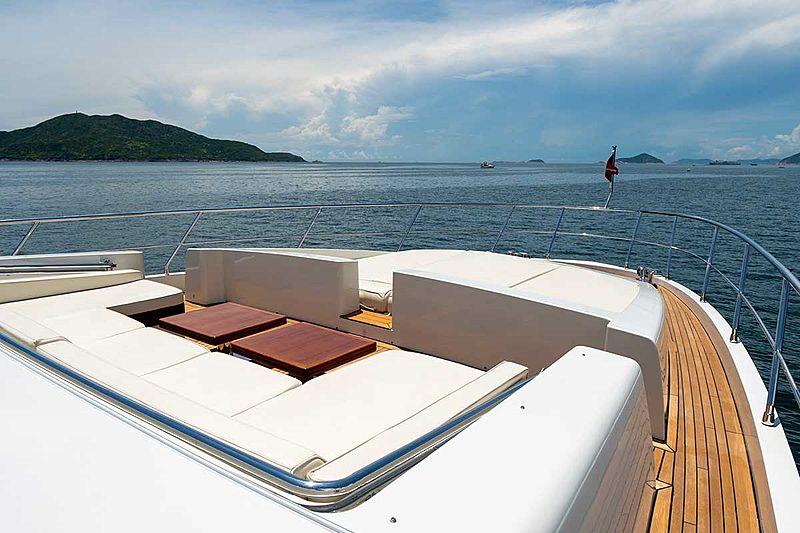 Aquarius yacht deck