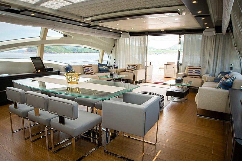 Aquarius yacht dining