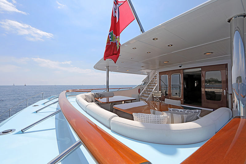 Awatea yacht deck