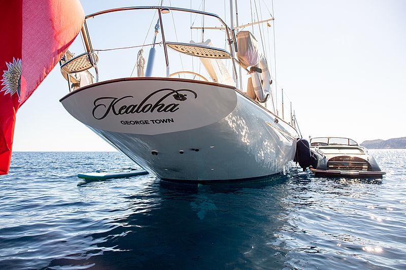 Kealoha yacht at anchor