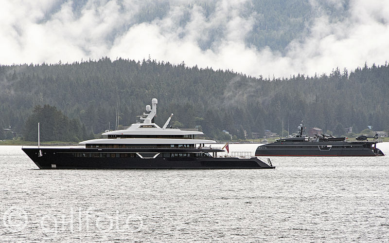 Lonian and Hodor yachts in Juneau, Alaska