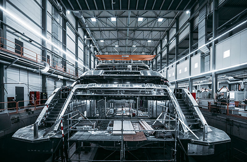 Project Cosmos yacht in build at Heesen Yachts