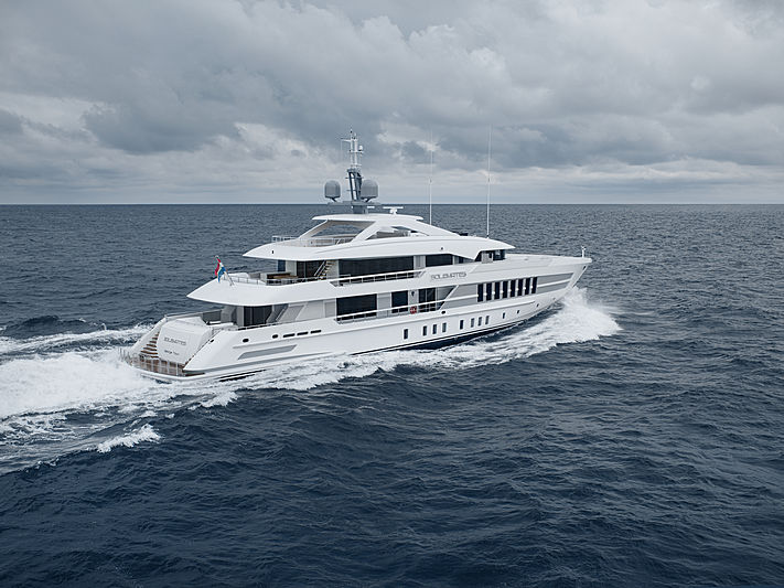 Solemates yacht on sea trials
