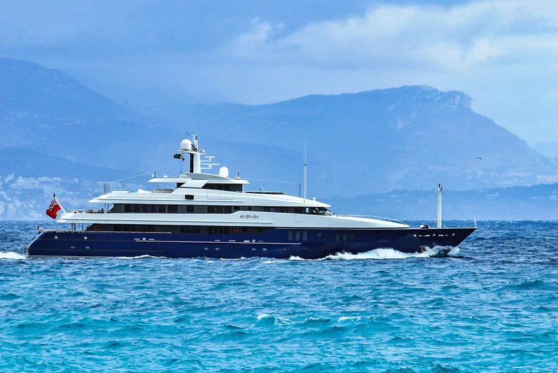 The 62m Amels superyacht Sarah at sea