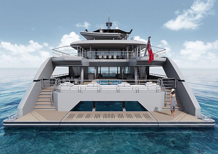 SpaceCat yacht exterior design