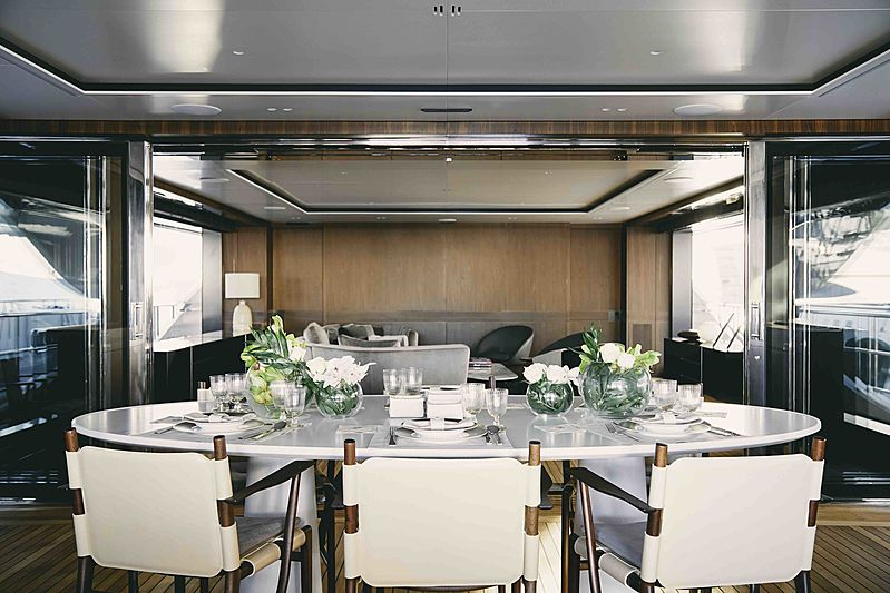 Bacchanal yacht dining