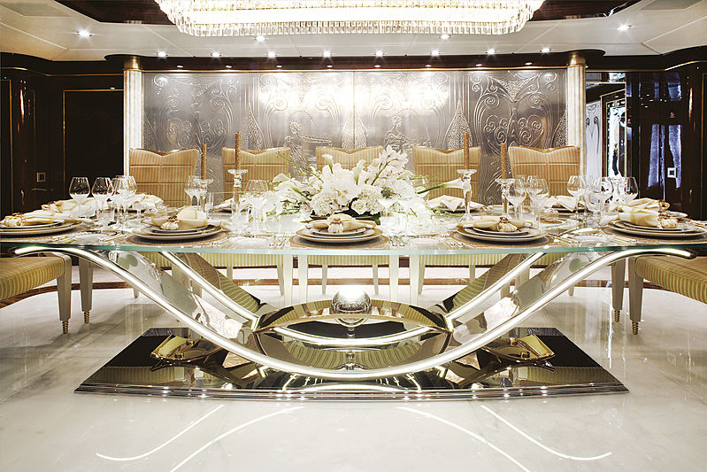 Diamonds are Forever yacht dining