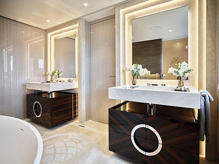 Soaring yacht bathroom