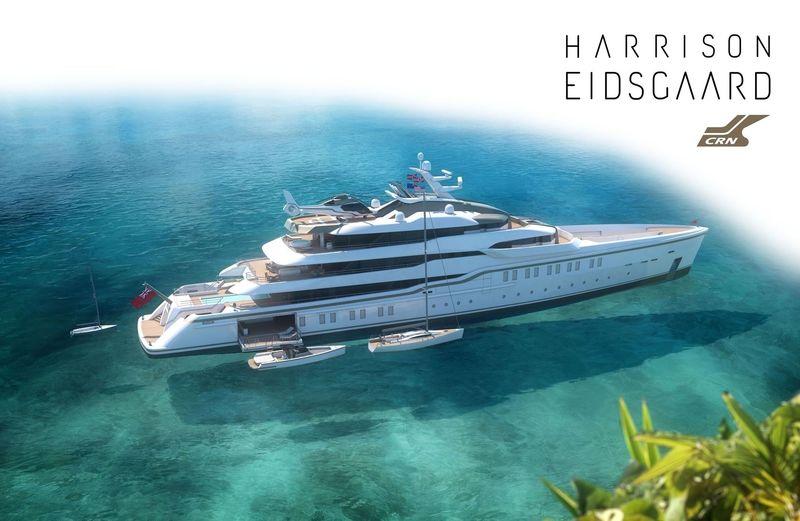 CRN & Eidsgaard - 86m explorer superyacht Concept