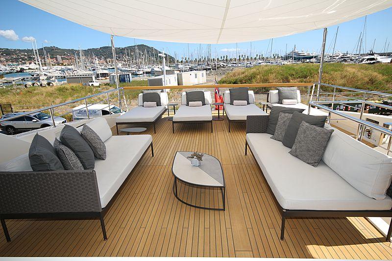 Andinoria yacht sundeck