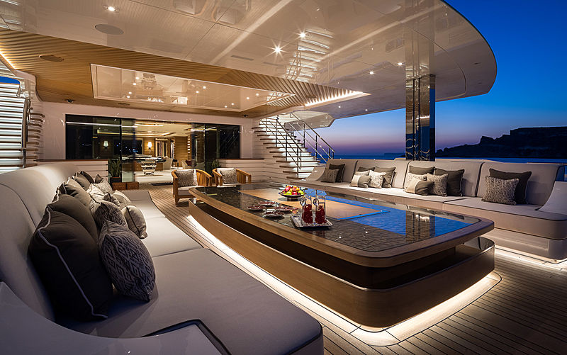 Lana yacht by Benetti main deck aft