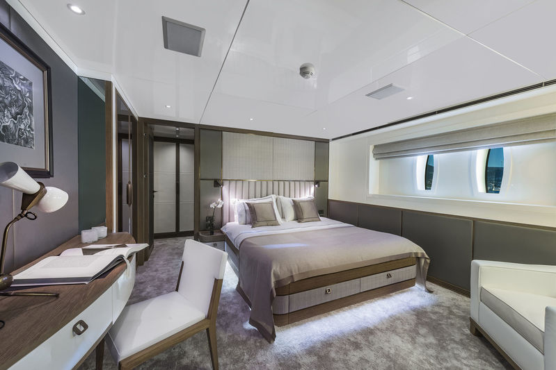 CMB Yachts 47M Liquid Sky Guest Cabin