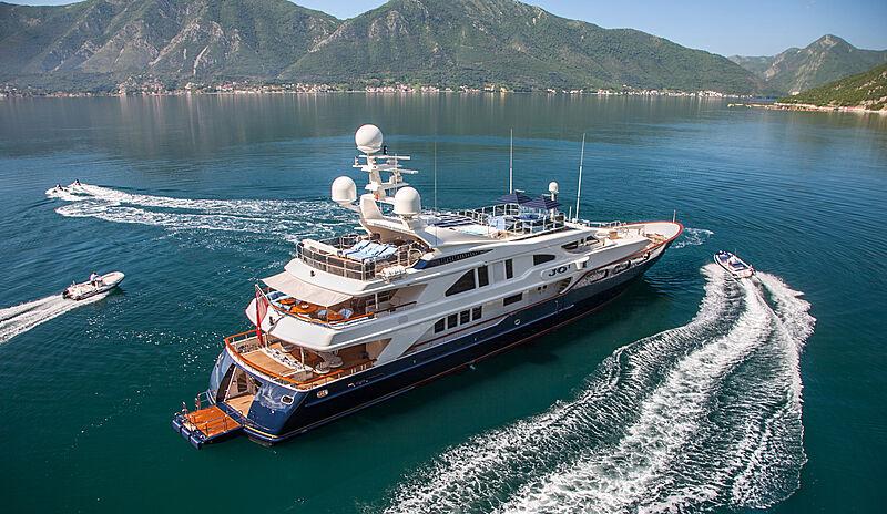 Jo yacht anchored