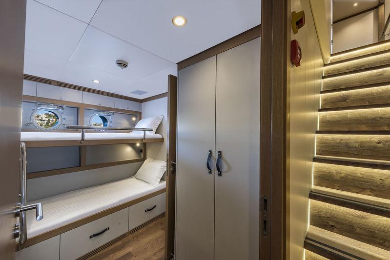 CMB Yachts 47M Liquid Sky Crew Cabin
