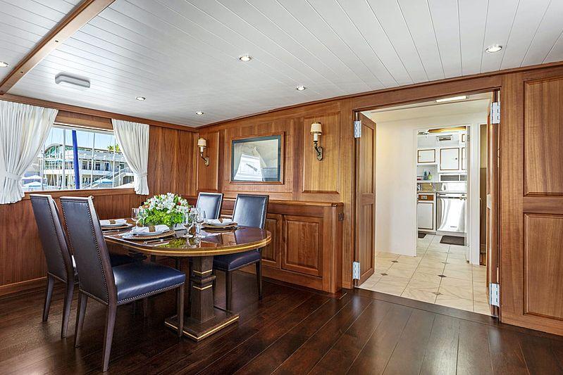 Nordic Star yacht dining