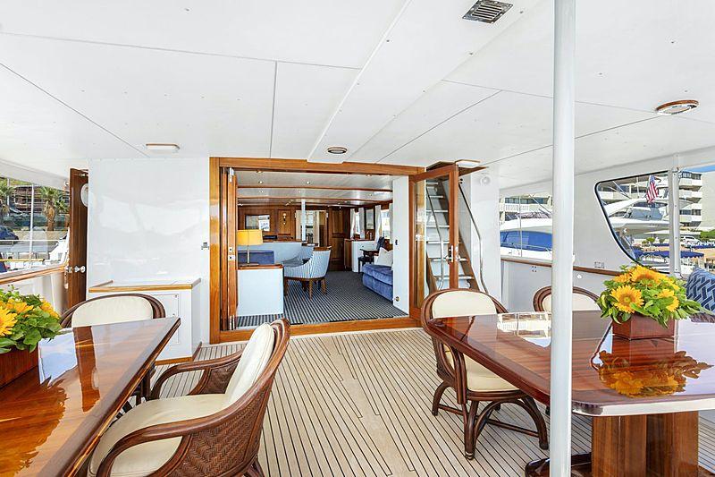 Nordic Star yacht aft deck