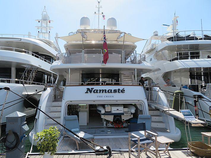 Namaste yacht at Miami Yacht Show 2020