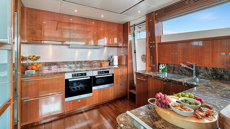 Love N Live yacht galley