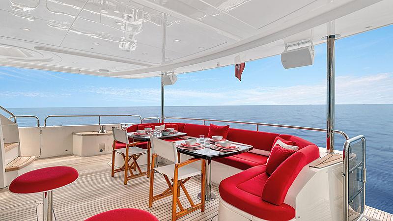 Love N Live yacht aft deck