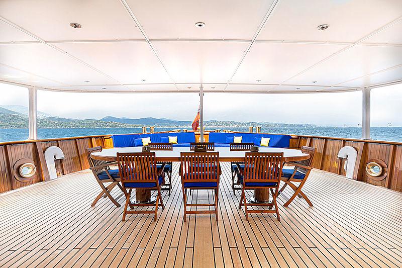 Paloma yacht deck