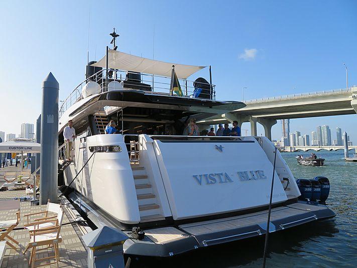 Vista Blue yacht at Miami Yacht Show 2020