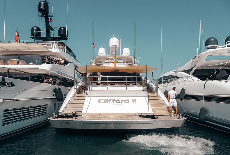 Clifford II yacht by Palmer Johnson in St Tropez