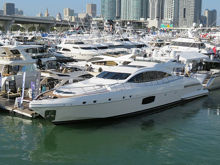 Wings Spread yacht at Miami Yacht Show 2020