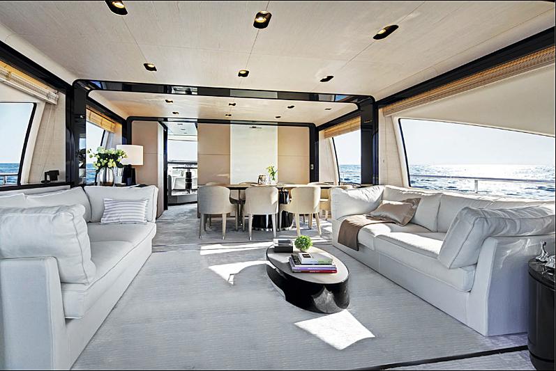 Concetta Marie yacht saloon
