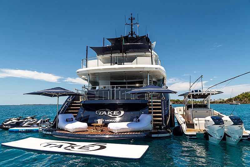 Take 5 yacht anchored