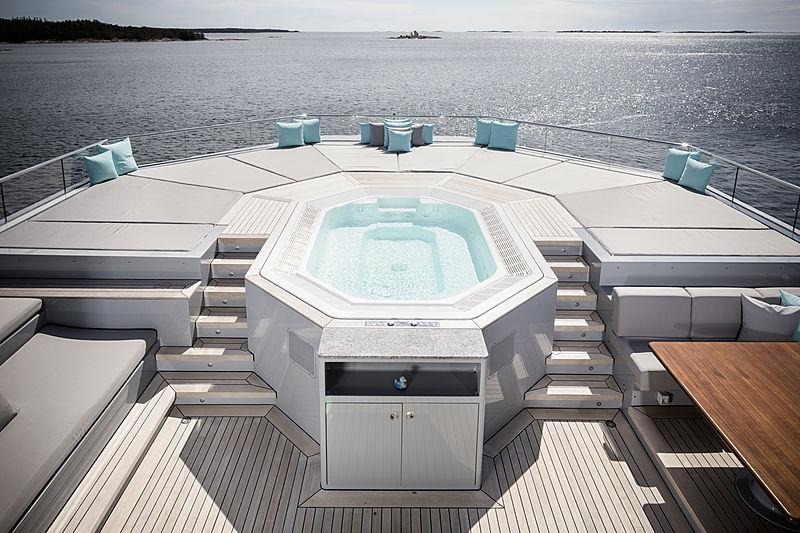 Skat yacht by Lürssen gym deck