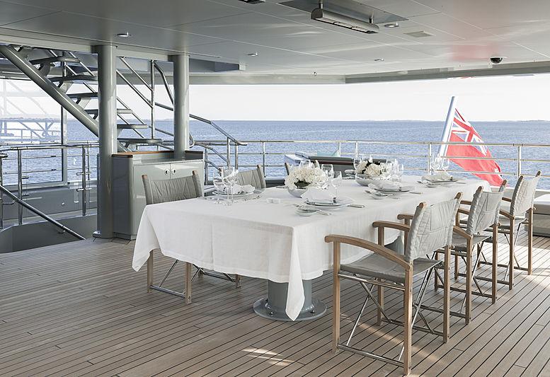 Skat yacht by Lürssen bridge deck exterior