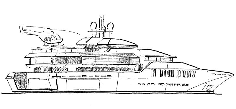 Skat yacht design by Espen 脴iino