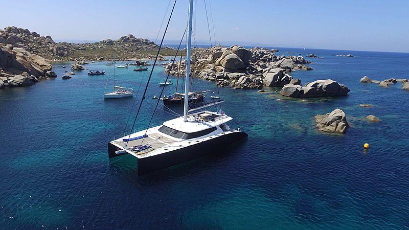 Levante yacht anchored