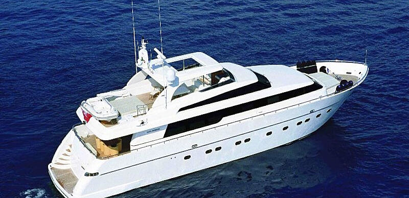 Sky Khan yacht cruising