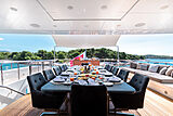 Africa I yacht deck dining