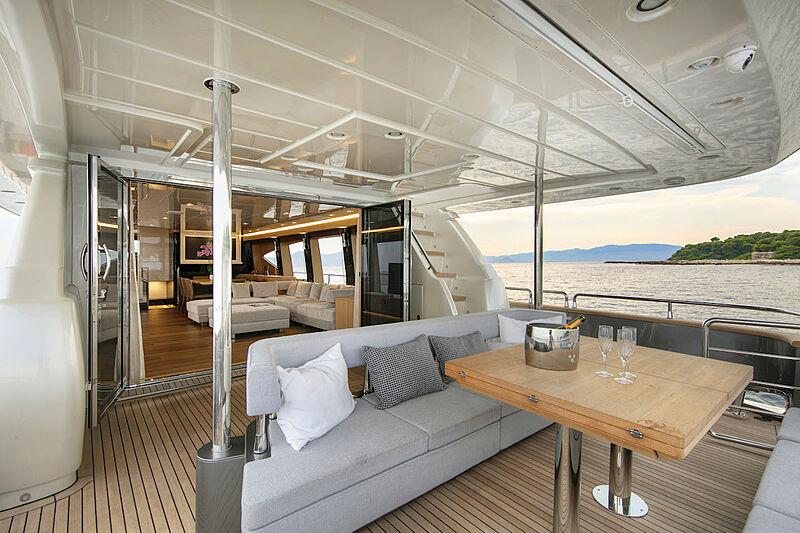 Ursula V yacht deck